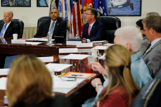 IMAGE: Obama Pentagon briefing