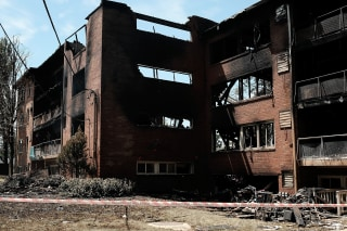 Image: Natural Gas Explosion And Fire Levels Apartments In D.C. Suburb