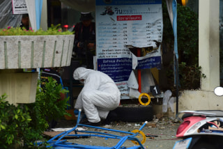 Image: Scene of bombing in Hua Hin, Thailand