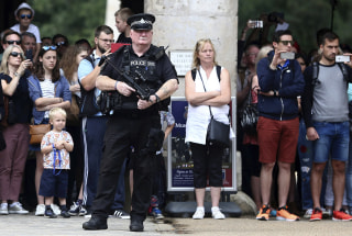 Image: An armed police in London