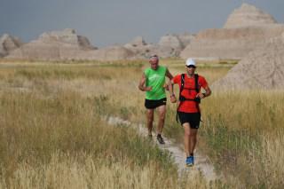 Image: Bill Sycalik and local runner and longtime marathoner Jerry Dunn
