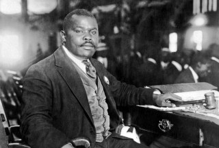 Marcus Garvey At His Desk