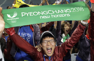 Image: Celebrations after PyeongChang was announced as Olympic host on July 7, 2011