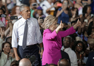 Image: Barack Obama, Hillary Clinton