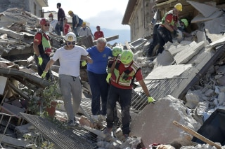 Image: Rescuers work in Amatrice, Italy
