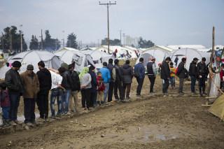 Greece: Refugee camp in Idomeni, Greece
