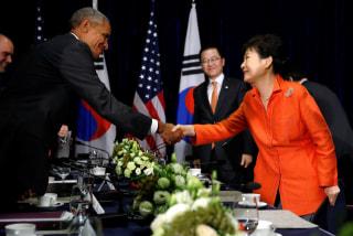 Image: Obama and South Korea's Park