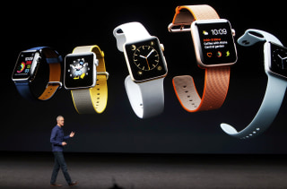 Image: Jeff Williams discusses the Apple Watch Series 2 during an Apple media event in San Francisco