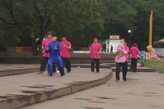 Image: Locals in Vladivostok, Russia, practicing qigong