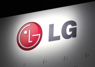 LG Electronics' company logo is displayed at their news conference at the Consumer Electronics Show (CES) in Las Vegas