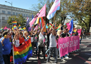 Gay Pride March in Serbia