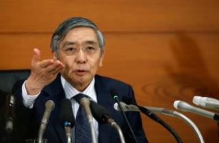 BOJ Governor Kuroda attends a news conference at the BOJ headquarters in Tokyo