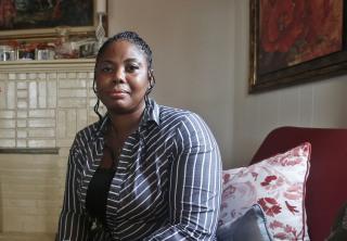 Image: Gwendolyn Smalls, sister of Linwood R. Lambert Jr., who died in police custody in May of 2013