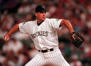 Rockies Darryl Kile pitches against St. Louis Cardinals on Friday.