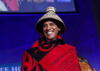 Image: Obama attends the 2016 White House Tribal Nations Conference