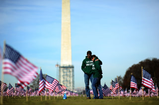 Image: Veterans at suicide commemoration