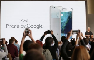 Image: Rick Osterloh introduces the Pixel Phone by Google during the presentation of new Google hardware in San Francisco