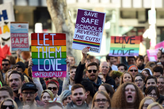 Image: FILES-AUSTRALIA-GAY-RIGHTS-POLITICS-MARRIAGE-SOCIAL-HOMOSEXUALIT