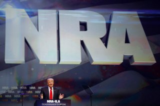 Image: Donald Trump attends the National Rifle Association's NRA-ILA Leadership Forum