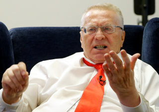 Image: Leader of Liberal Democratic Party of Russia Zhirinovsky speaks during interview with Reuters in Moscow