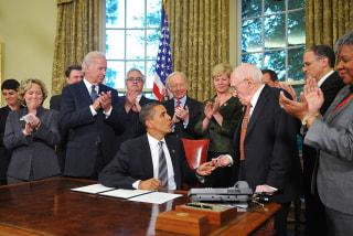 US President Barack Obama hands to gay r
