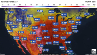 Image: Tuesday Oct.18 weather forecast in the U.S.