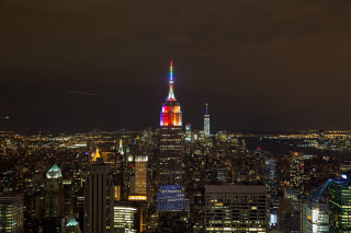 U.S.-NEW YORK-EMPIRE STATE-PRIDE WEEK-RAINBOW LIGHT