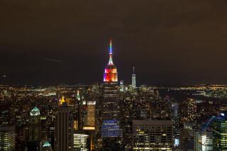 U.S.-NEW YORK-EMPIRE STATE-PRIDE WEEK-RAINBOW LIGHT
