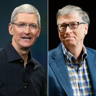 Image: Tim Cook; Bill Gates