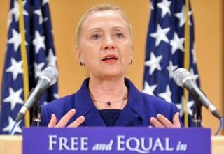 US Secretary of State Hillary Clinton ad