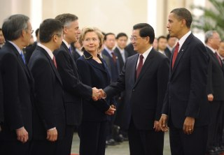 Image: President Obama and Hillary Clinton in China