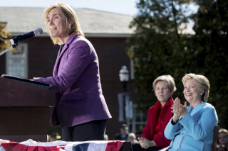 Image: Hillary Clinton, Elizabeth Warren, Maggie Hassan