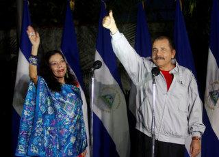 Image: Rosario Murillo and Daniel Ortega