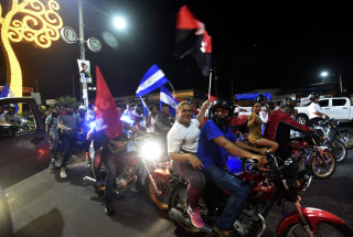Image: Supporters of Daniel Ortega