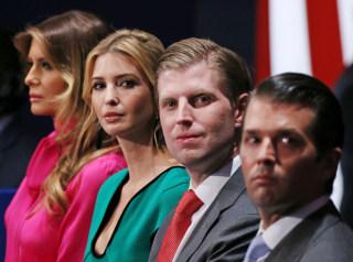 Image: Family members of Republican presidential nominee Donald Trump