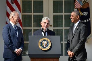 Image: Joe Biden, Merrick Garland, Barack Obama
