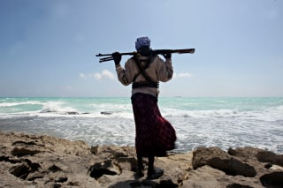 Image: Somali pirate in 2010