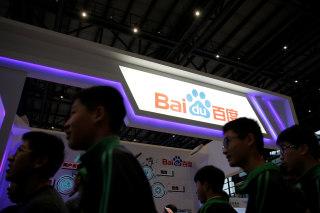 Image: A Baidu sign