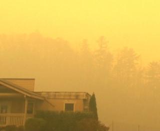 IMAGE: Gatlinburg wildfire smoke