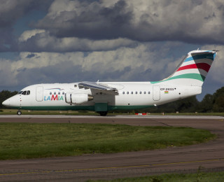 Image: LaMia plane which crashed in Colombia