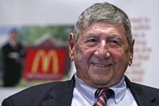 """Image:  Big Mac creator Michael """"Jim"""" Delligatti"""