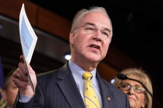 Image: Chairman of the House Budget Committee Tom Price (R-GA) announces the House Budget during a press conference
