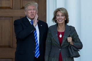 Image: Donald Trump and Betsy DeVos