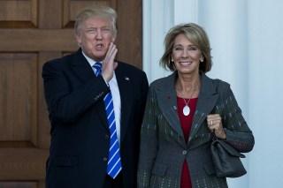 Image: Donald Trump and Betsy DeVos