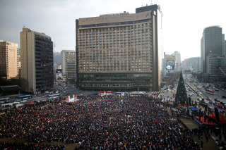 Image: Huge protest in Seoul, South Korea