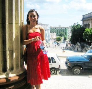 Undated photo of Morgan Radford exploring Havana, Cuba as an exchange student.
