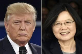 Image: Donald Trump and Taiwan's President Tsai Ing-wen