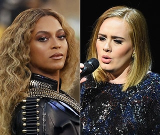 Image: A combination photo of Beyonce and Adele