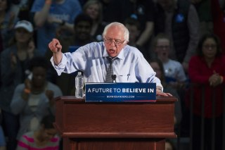 Presidential Candidate Bernie Sanders Holds Campaign Rally Ahead Of Super Tuesday