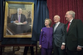 Image: Unveiling of a portrait of Senate Minority Leader Democrat Harry Reid